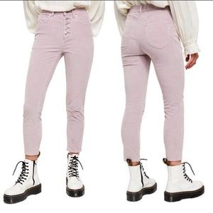 NWT Free People Sun Chaser Lilac Corduroy Skinny